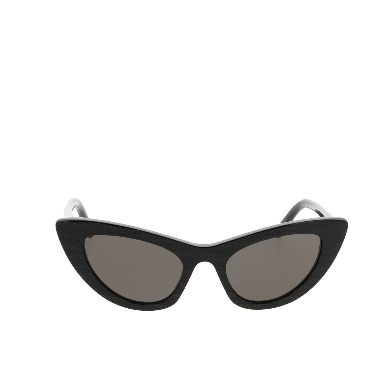 Sl213 glasses in striped acetate by Saint Laurent black 2