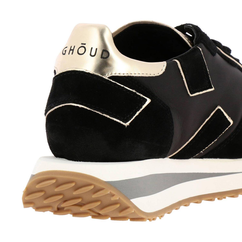 Кроссовки Rush X Ghoud из нейлона и замши с вставками из ламинированной кожи на толстой резиновой подошве черный 4