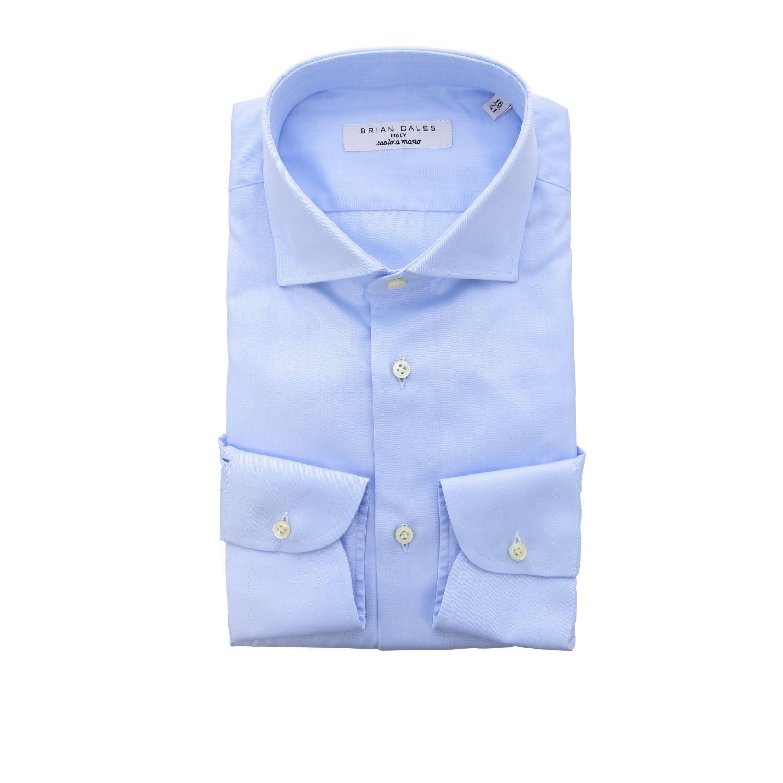 Camicia Brian Dales Camicie con collo francese in twill regular azzurro 1