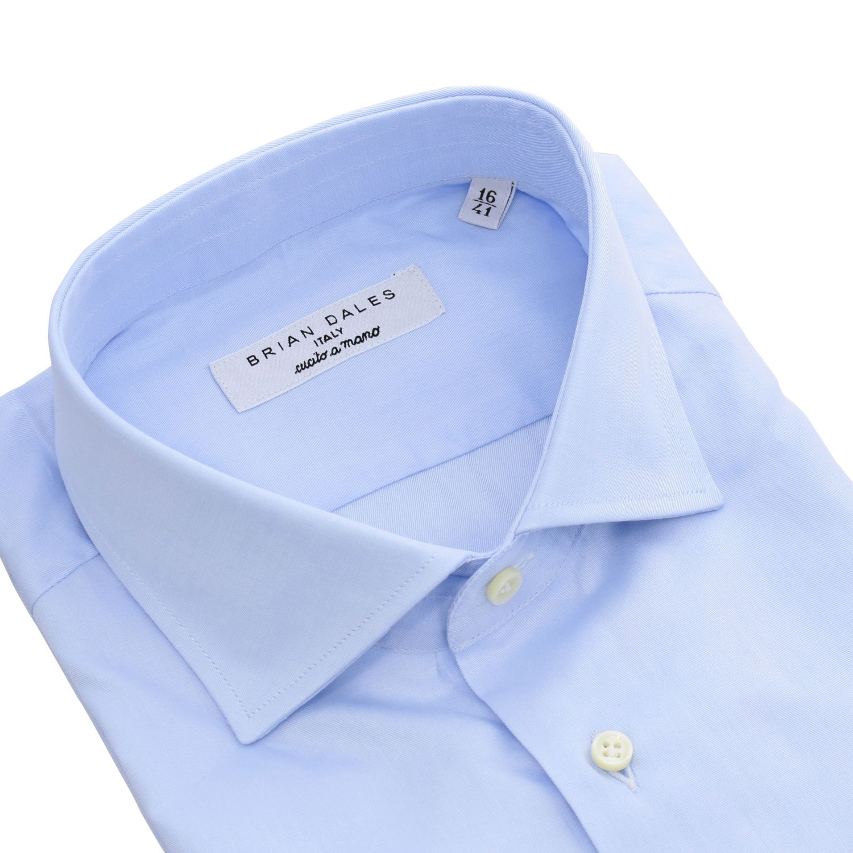 Camicia Brian Dales Camicie con collo francese in twill regular azzurro 2