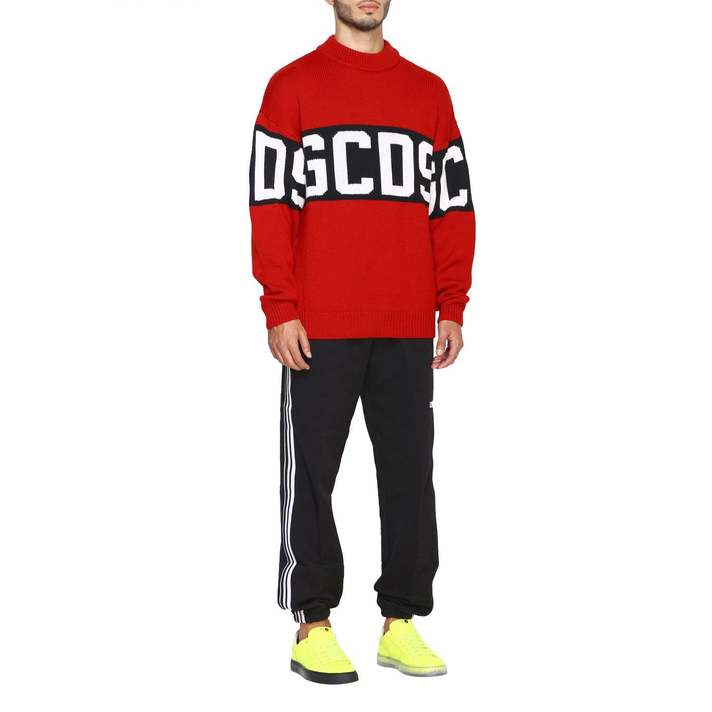 Pullover GCDS a maniche lunghe con maxi logo rosso 2