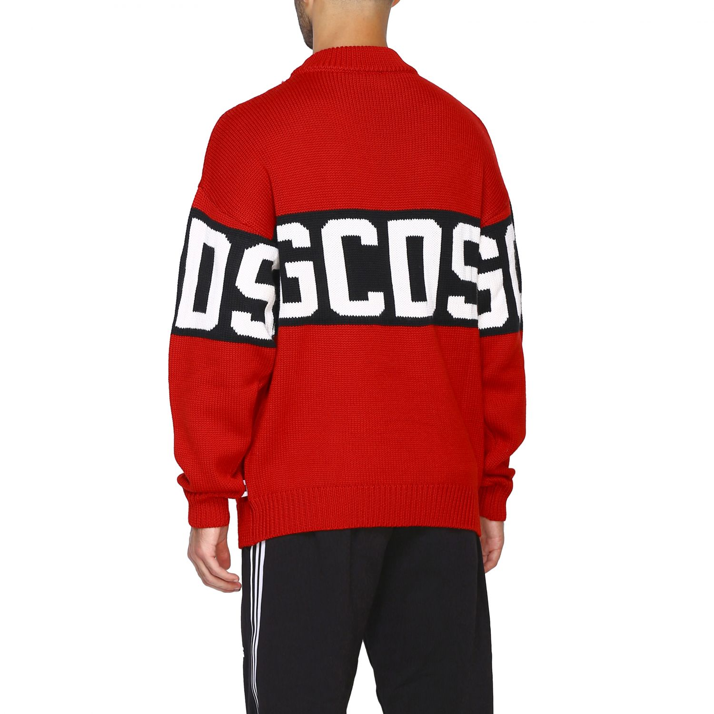 Pullover GCDS a maniche lunghe con maxi logo rosso 3