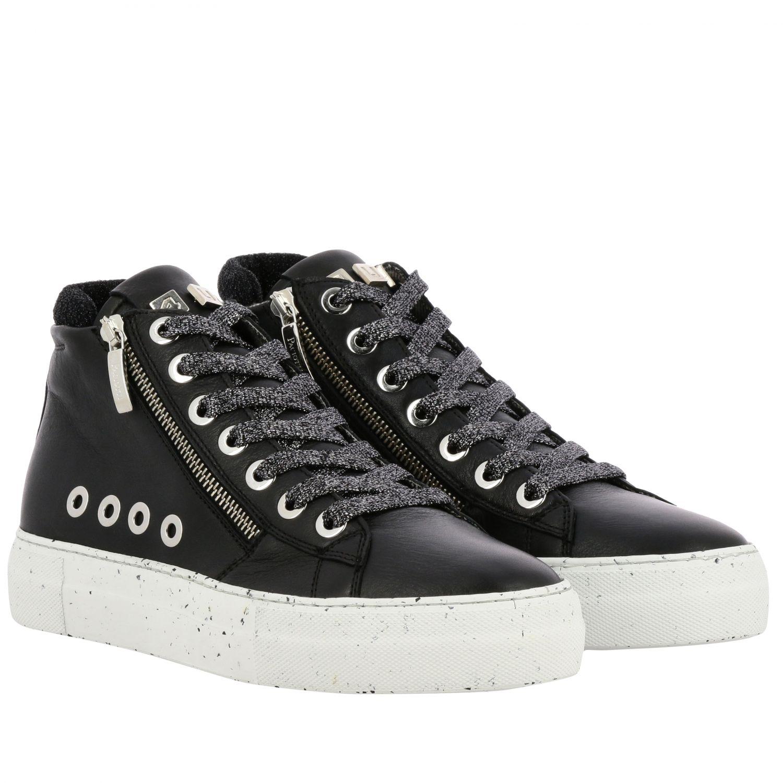 Sneakers Paciotti 4Us: Sneakers Ramones Paciotti 4US in pelle con zip macro vele e logo nero 2