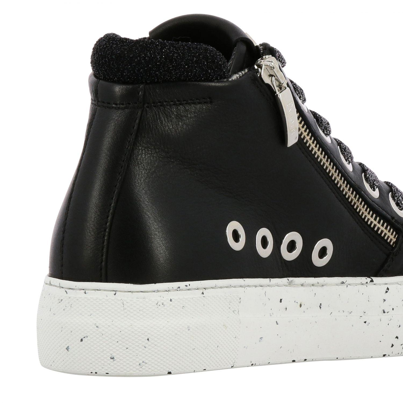 Sneakers Paciotti 4Us: Sneakers Ramones Paciotti 4US in pelle con zip macro vele e logo nero 5
