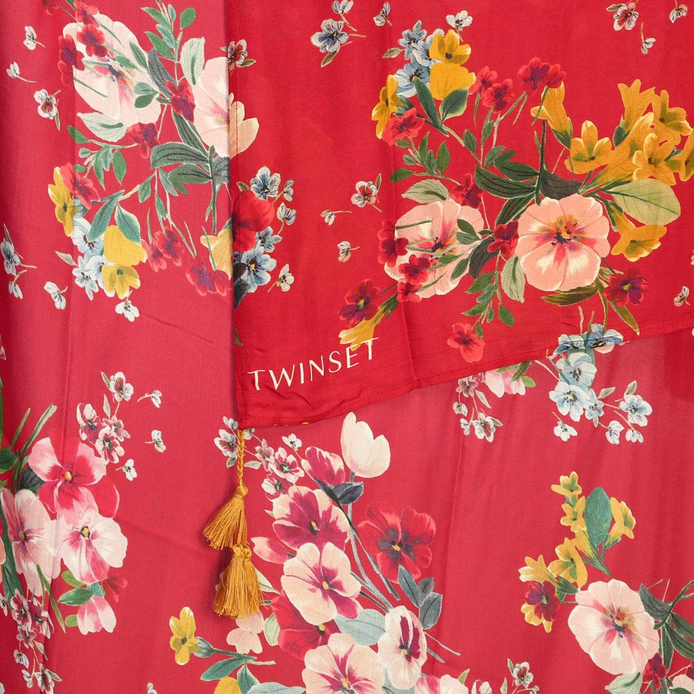 Modal stampa fiori rosso 3