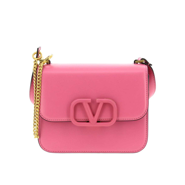 Mini Bag Valentino Garavani Vlogo Leather Shoulder Bag With Maxi V Monogram