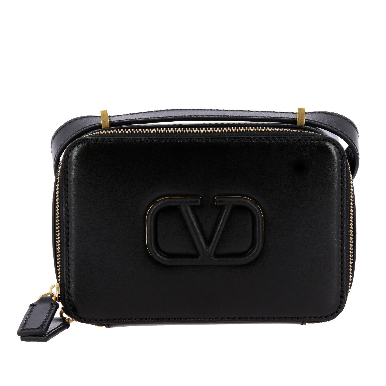 Valentino Garavani VLogo Kameratasche aus Leder schwarz 1