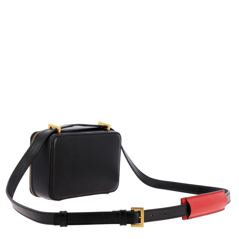 Valentino Garavani VLogo Kameratasche aus Leder schwarz 3
