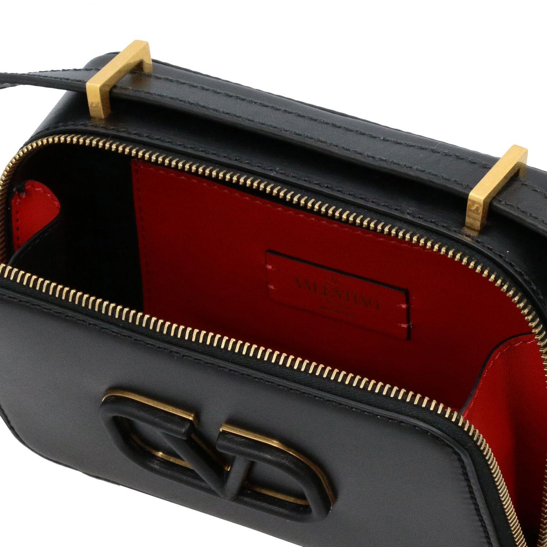 Valentino Garavani VLogo Kameratasche aus Leder schwarz 5