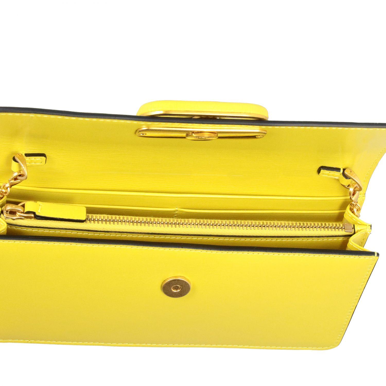 Borsa VLogo Valentino Garavani small in pelle liscia giallo 5