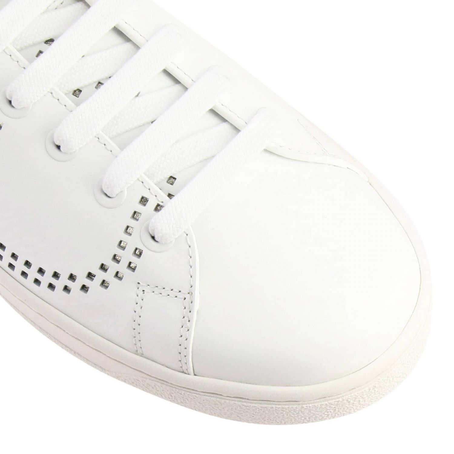 Valentino Garavani Backnet leather sneakers with micro perforated logo white 3