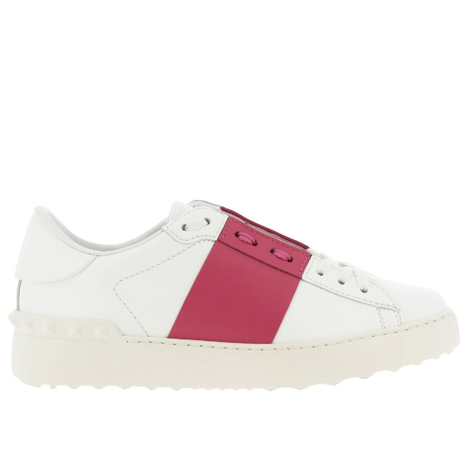Open Rockstud sneakers Valentino Garavani in genuine leather with band white 1