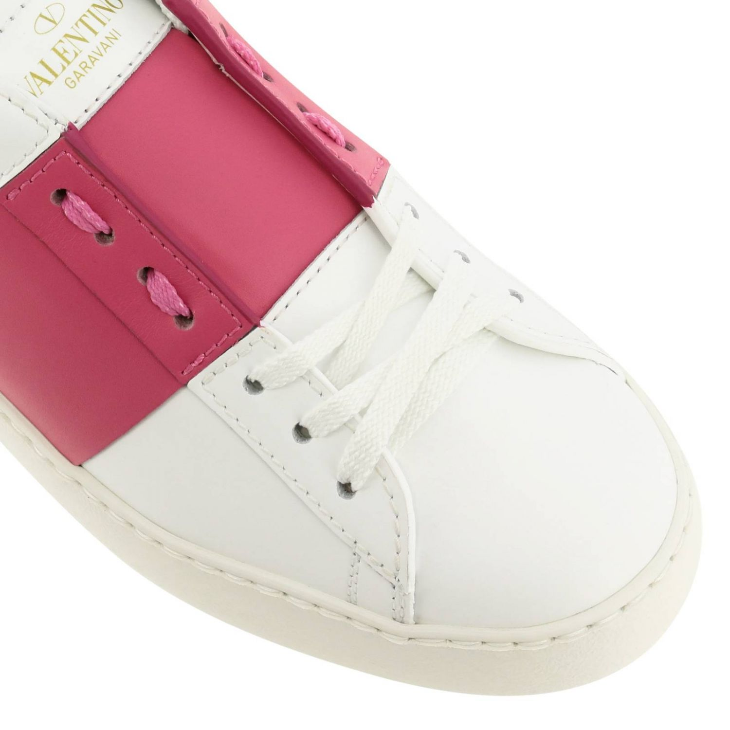 Open Rockstud sneakers Valentino Garavani in genuine leather with band white 4