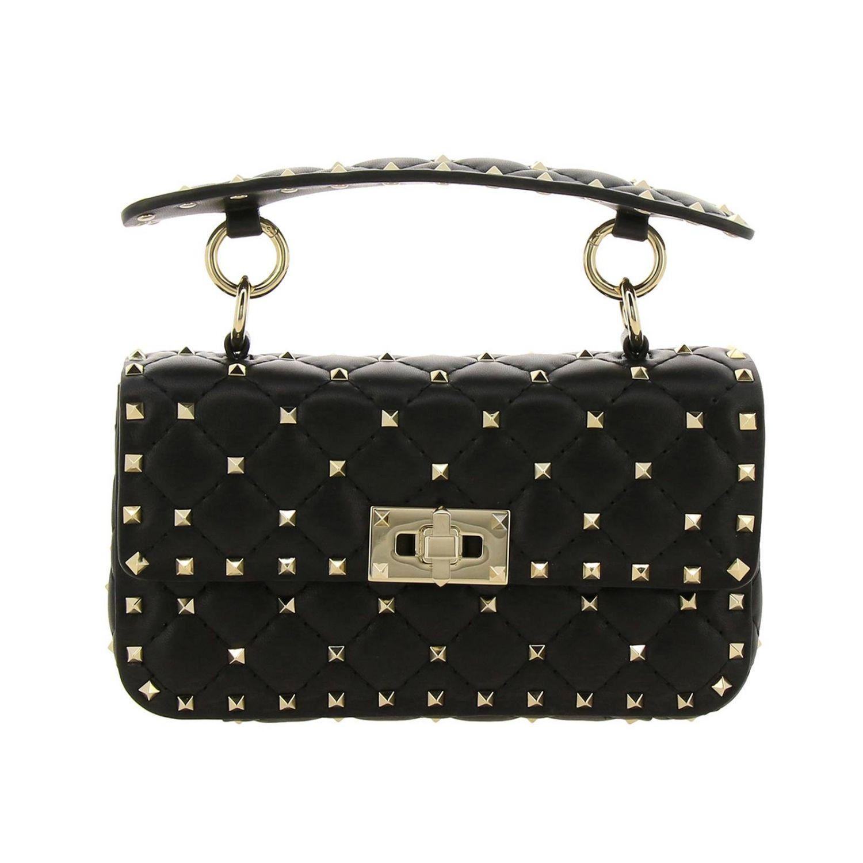 Mini Bag Valentino Garavani Rockstud Spike Quilted Genuine Leather Bag With Micro Studs