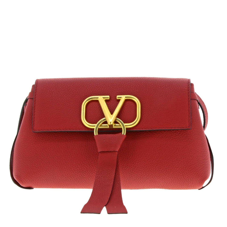 Mini Bag Valentino Garavani Vlogo Hammered Leather Bag With Maxi V Monogram