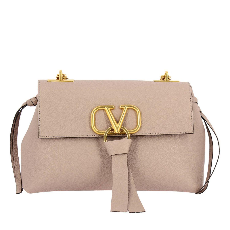 Crossbody Bags Valentino Garavani Vlogo Leather Bag With Maxi V Monogram