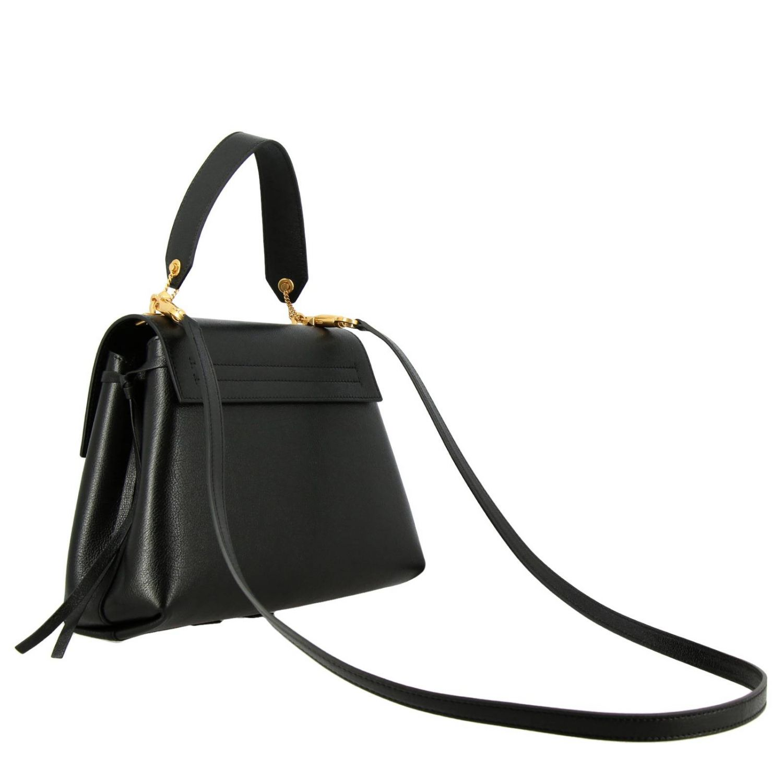 Valentino Garavani VLogo 手袋,采用锤打皮革制成,配有大号monogram V. 黑色 3