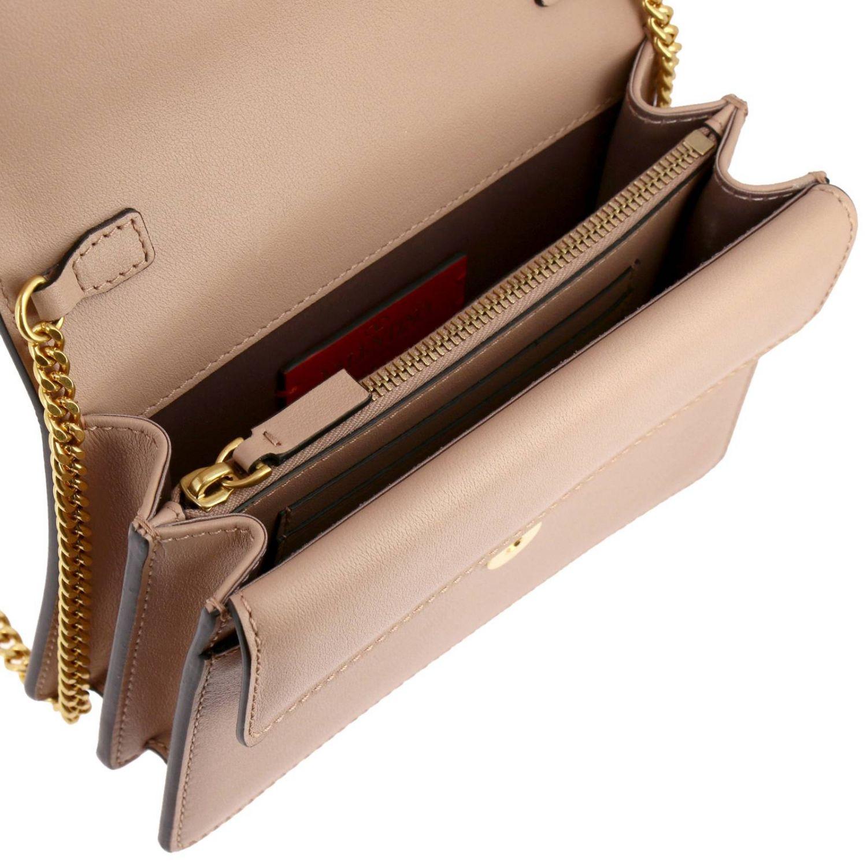 Valentino Garavani VLogo leather bag with maxi V monogram nude 5