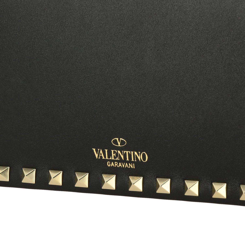 Valentino Garavani Rockstud Spike leather bag  with a thin shoulder strap black 4
