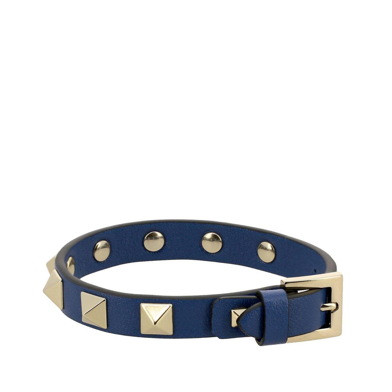 Valentino Garavani Rockstud bracelet in leather avion 1