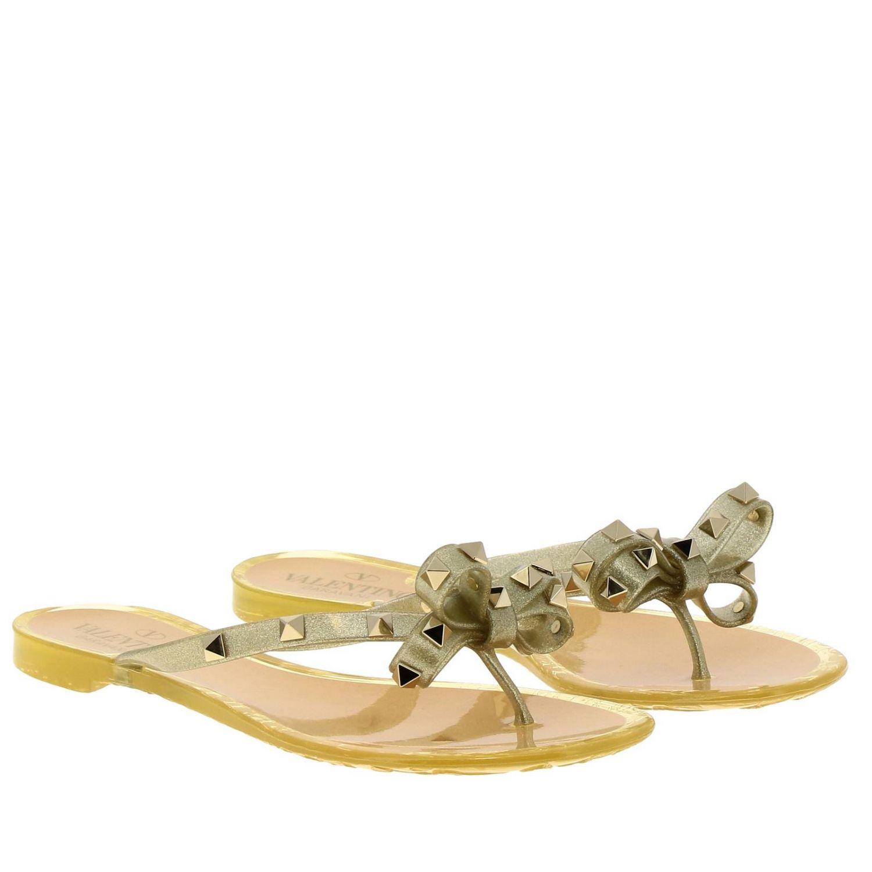Shoes women Valentino Garavani gold 2