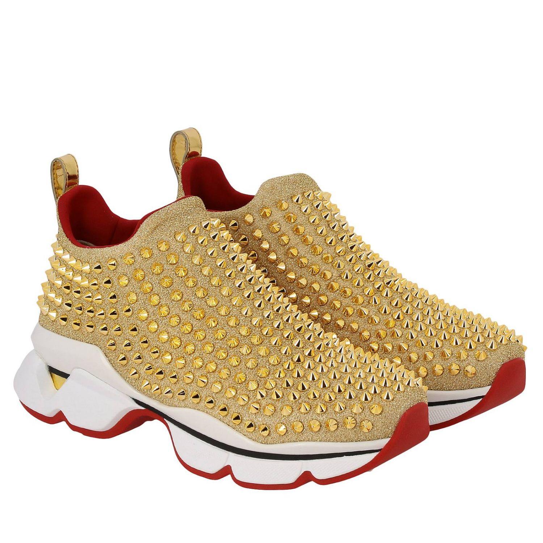 Shoes women Christian Louboutin gold 2