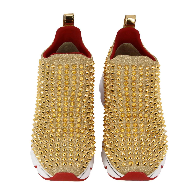 Shoes women Christian Louboutin gold 3