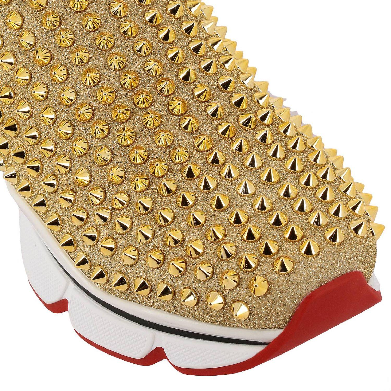 Shoes women Christian Louboutin gold 4