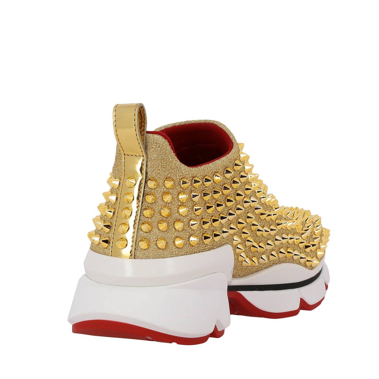 Shoes women Christian Louboutin gold 5