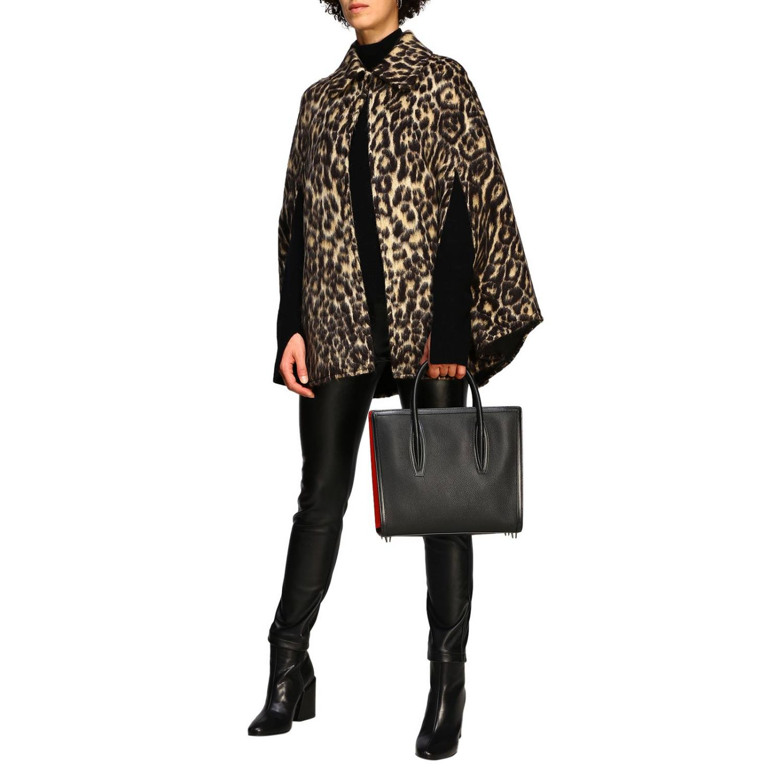Sac porté main Christian Louboutin: Sac moyen Paloma Christian Louboutin en cuir et caoutchouc avec logo gravé noir 2