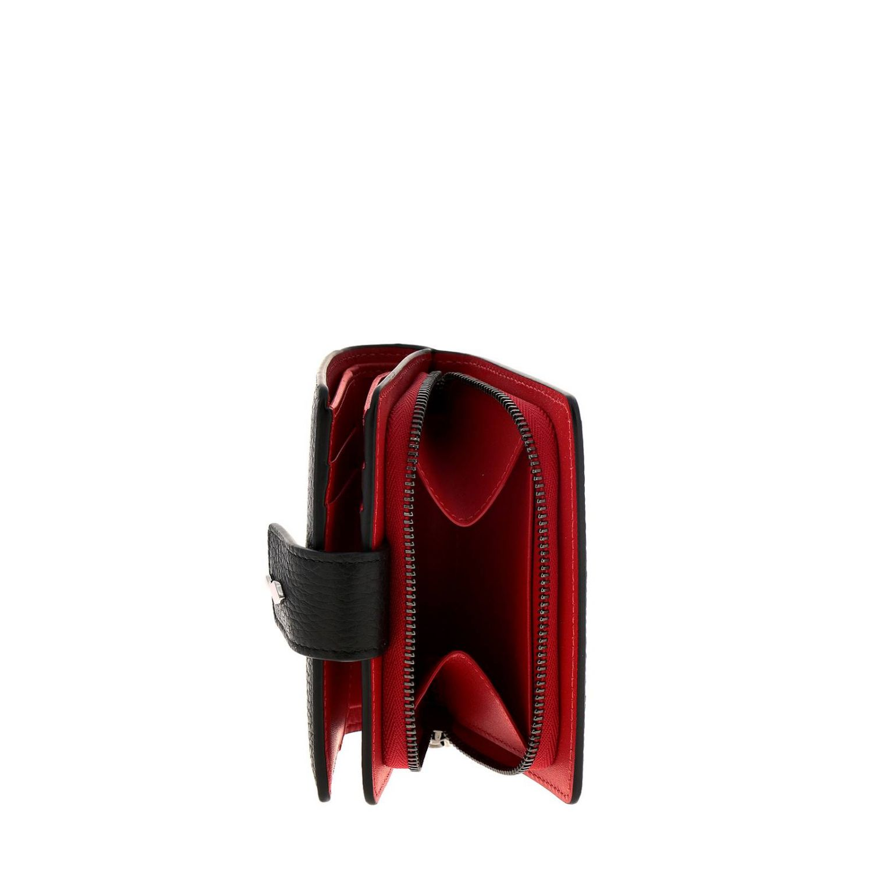 Portafoglio Christian Louboutin: Portafoglio Paloma mini continental Christian Louboutin in pelle martellata e opaca nero 3