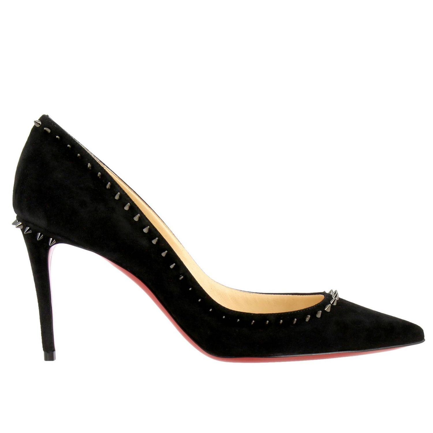 Pumps Christian Louboutin: Angelina Christian Louboutin pumps in suede with studs black 1