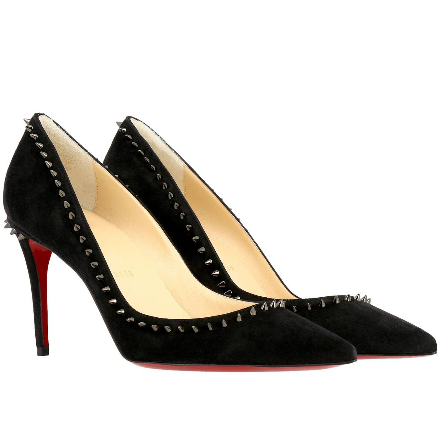 Pumps Christian Louboutin: Angelina Christian Louboutin pumps in suede with studs black 2