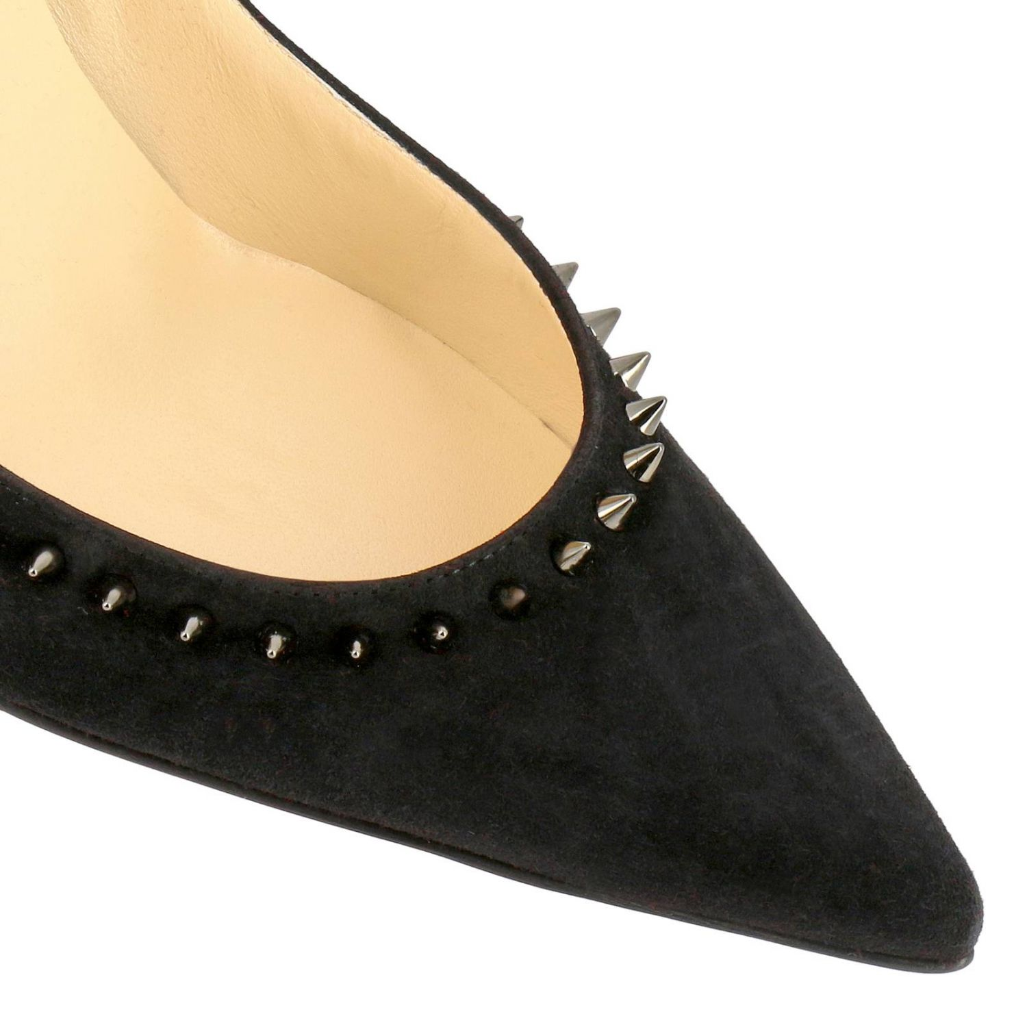 Pumps Christian Louboutin: Angelina Christian Louboutin pumps in suede with studs black 3