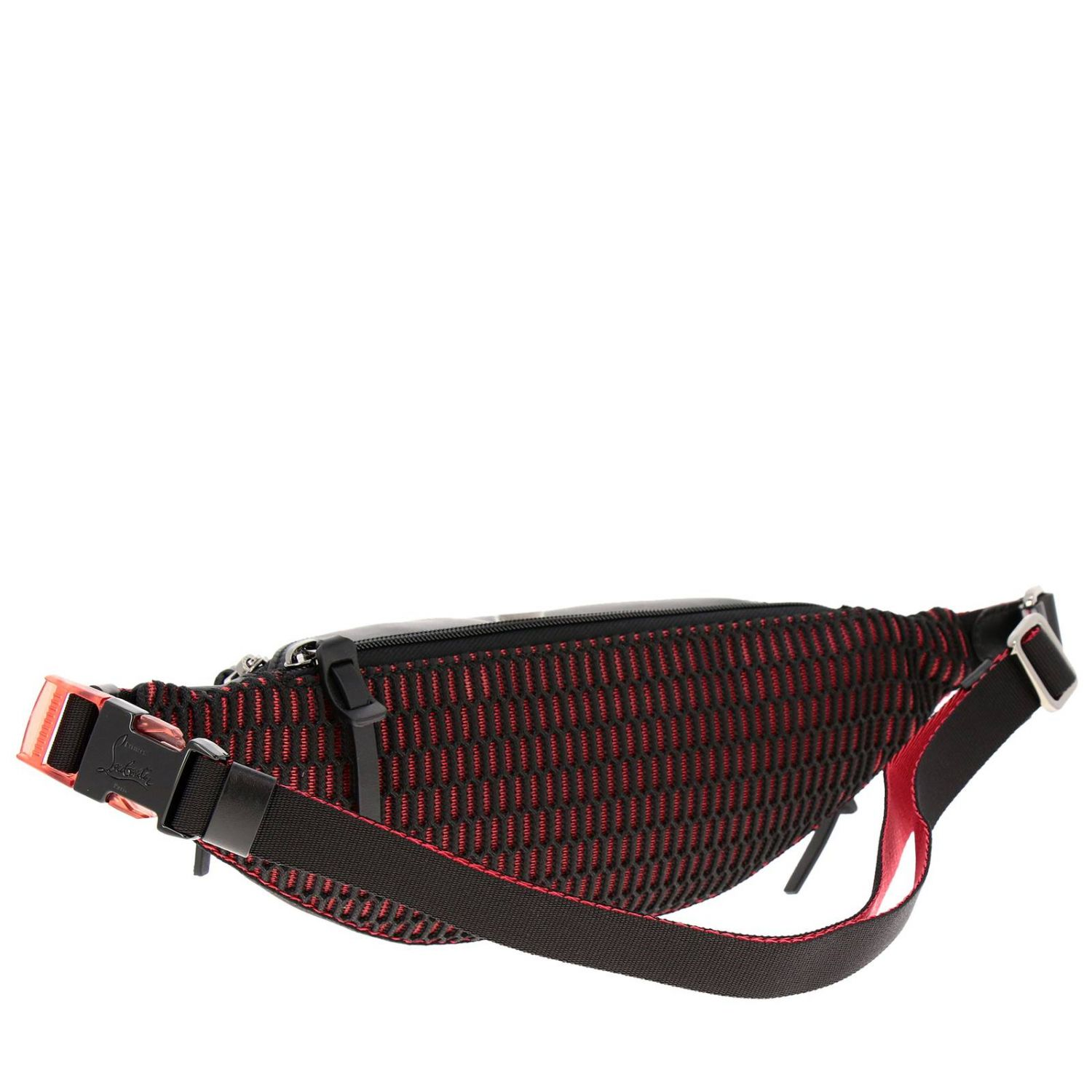 Parisnyc Christian Louboutin belt bag in nylon and leather with studs black 3