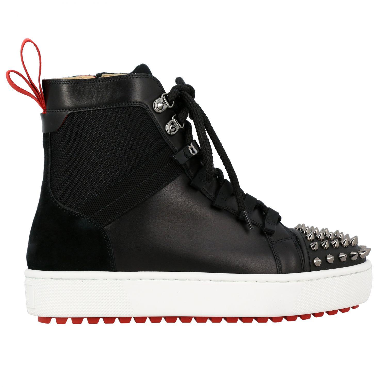 Smartic Spikes Christian Louboutin Sneaker aus Glattleder schwarz 1