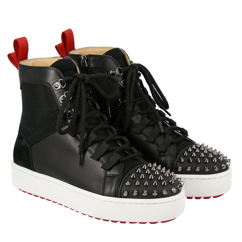 Smartic Spikes Christian Louboutin Sneaker aus Glattleder schwarz 2