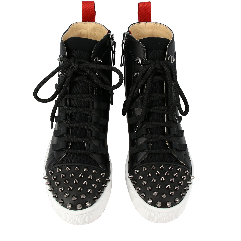 Smartic Spikes Christian Louboutin Sneaker aus Glattleder schwarz 3