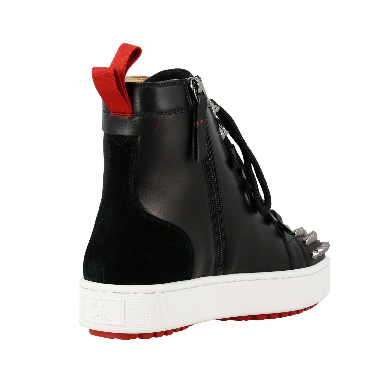 Smartic Spikes Christian Louboutin Sneaker aus Glattleder schwarz 5