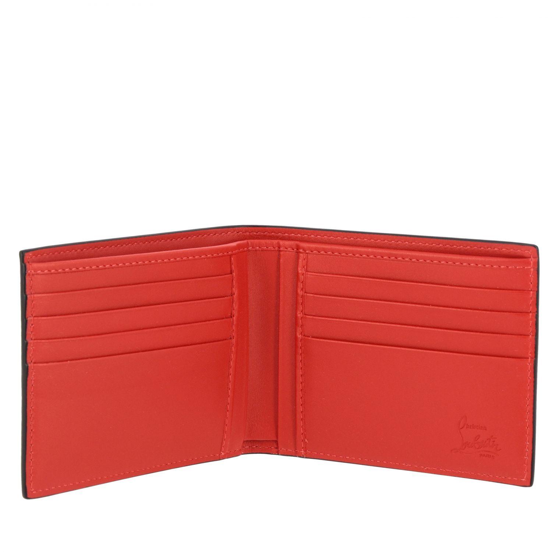 Portafoglio Coolcard Christian Louboutin a libro in pelle con logo nero 2