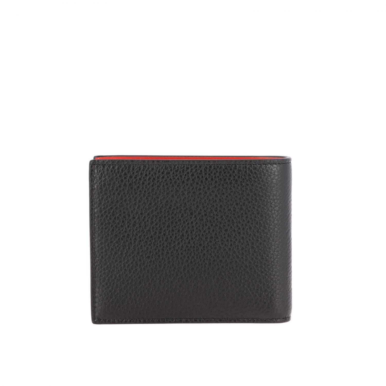 Portafoglio Coolcard Christian Louboutin a libro in pelle con logo nero 3
