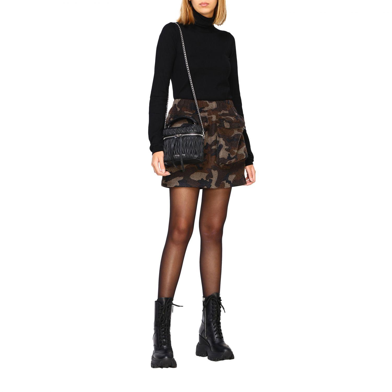 Miu Miu oval Camera bag in matelassé leather black 2
