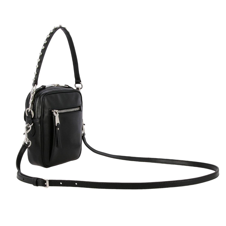 Miu Miu bag in leather with maxi rhinestones black 3