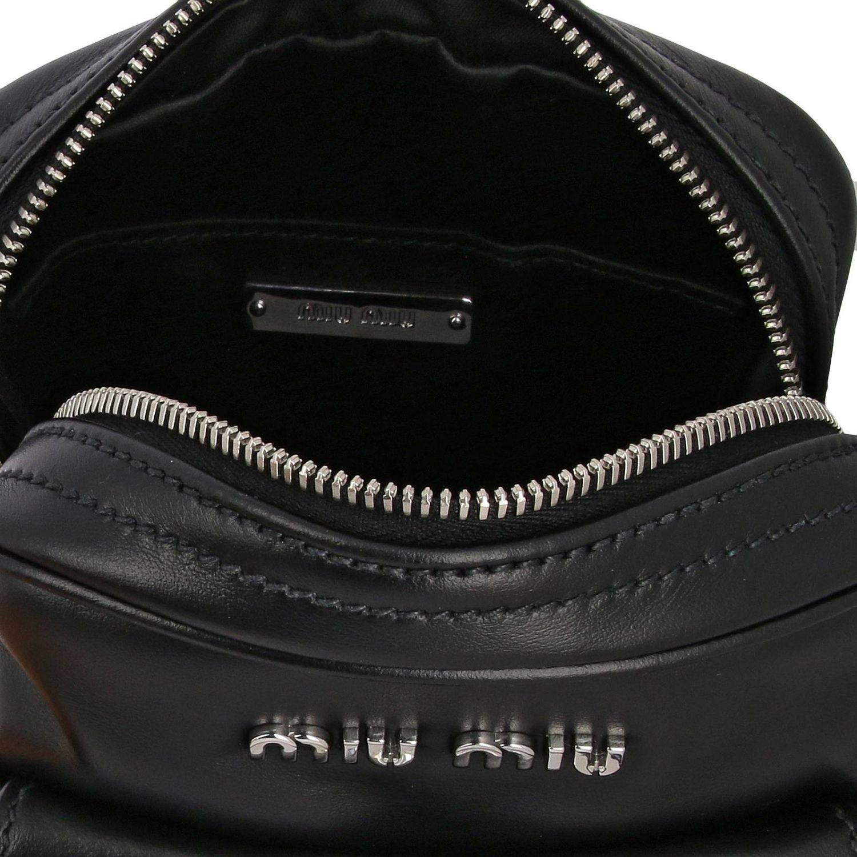 Miu Miu bag in leather with maxi rhinestones black 5