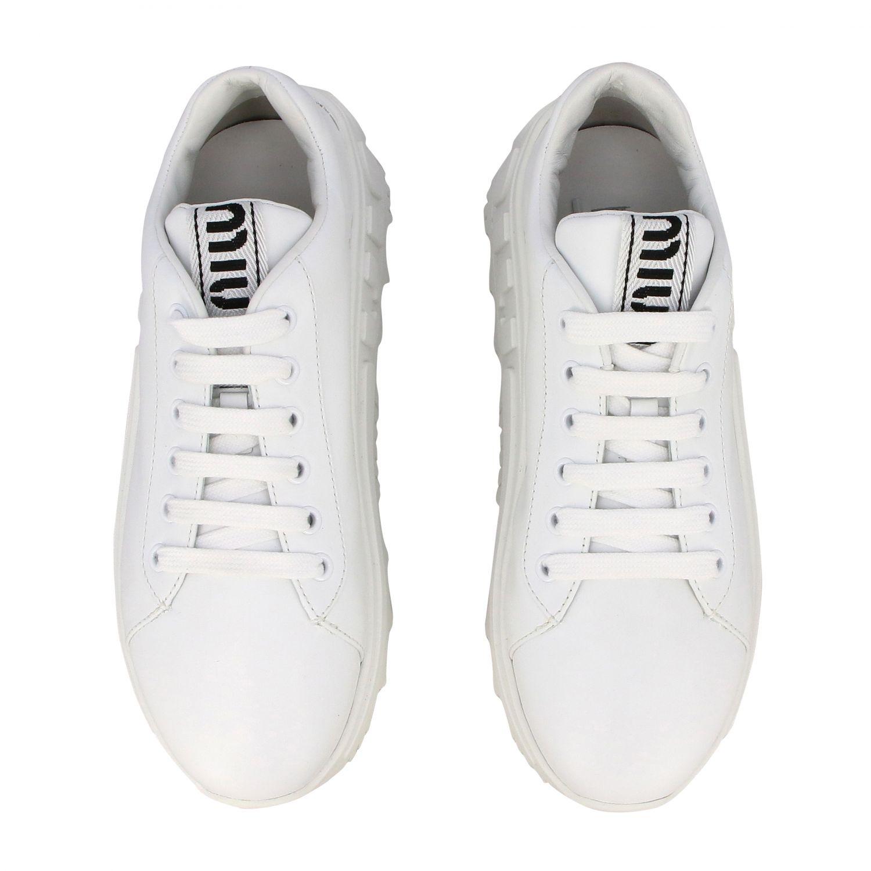 Sneakers maxi suola logata pelle bianco 3