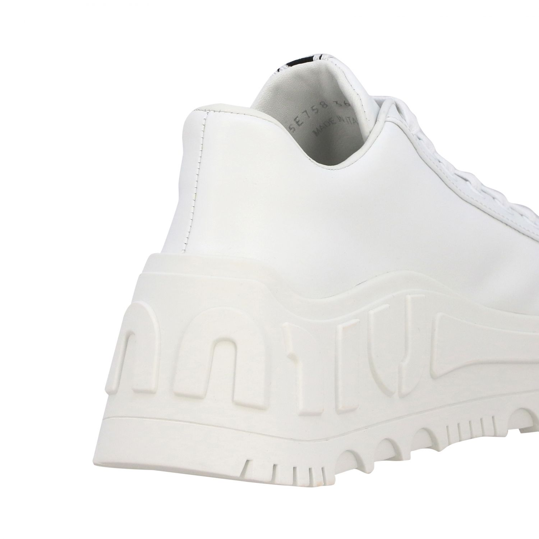 Sneakers maxi suola logata pelle bianco 5