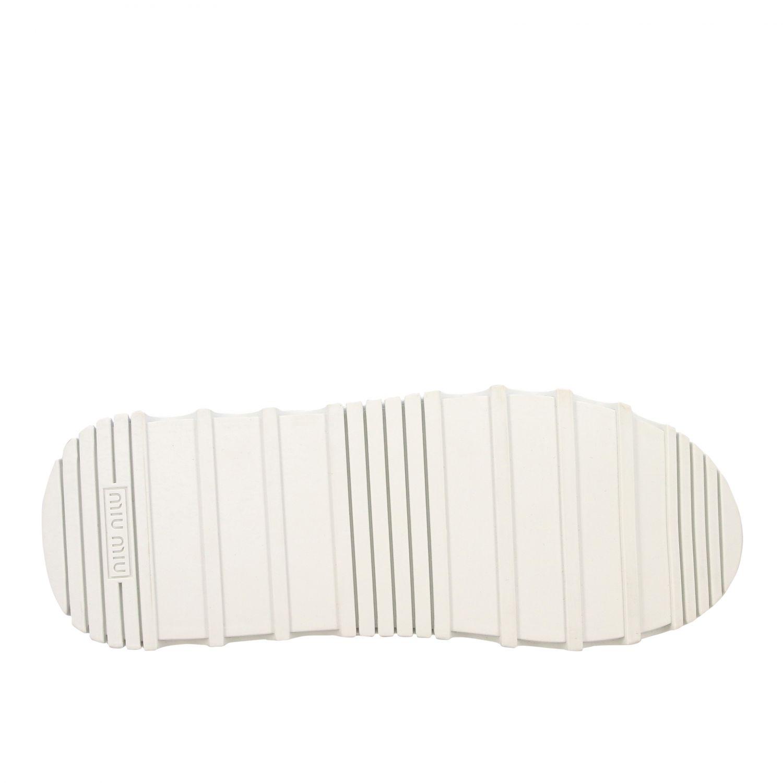 Sneakers maxi suola logata pelle bianco 6