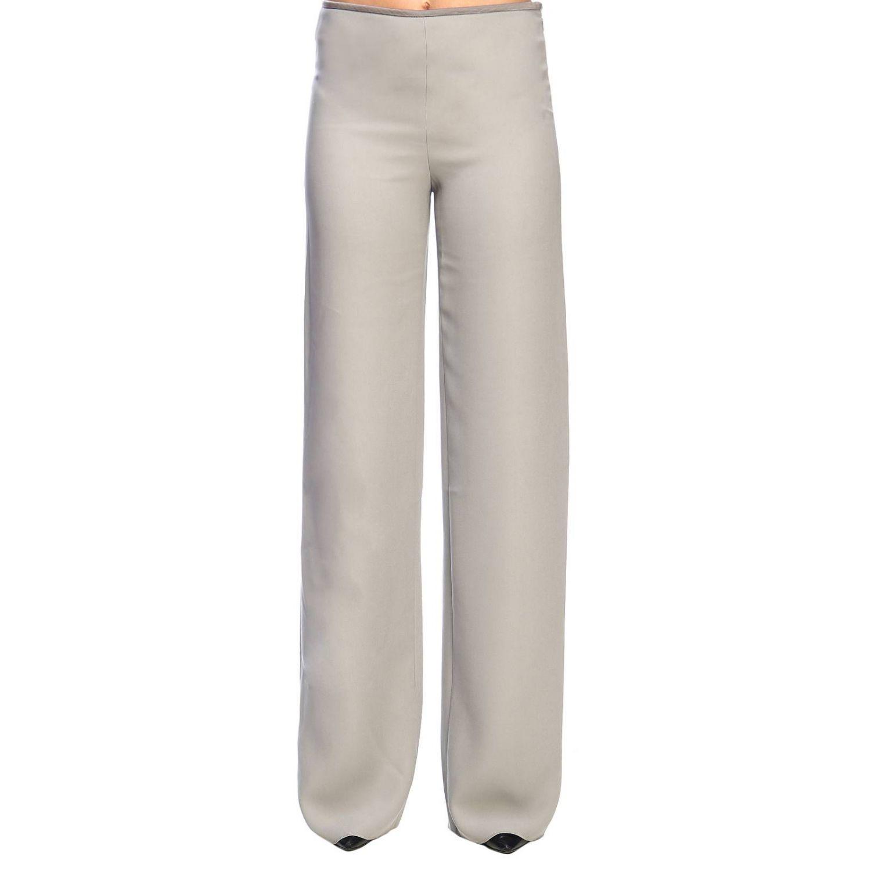 Giorgio Armani Classic trousers in wide crepe grey 1