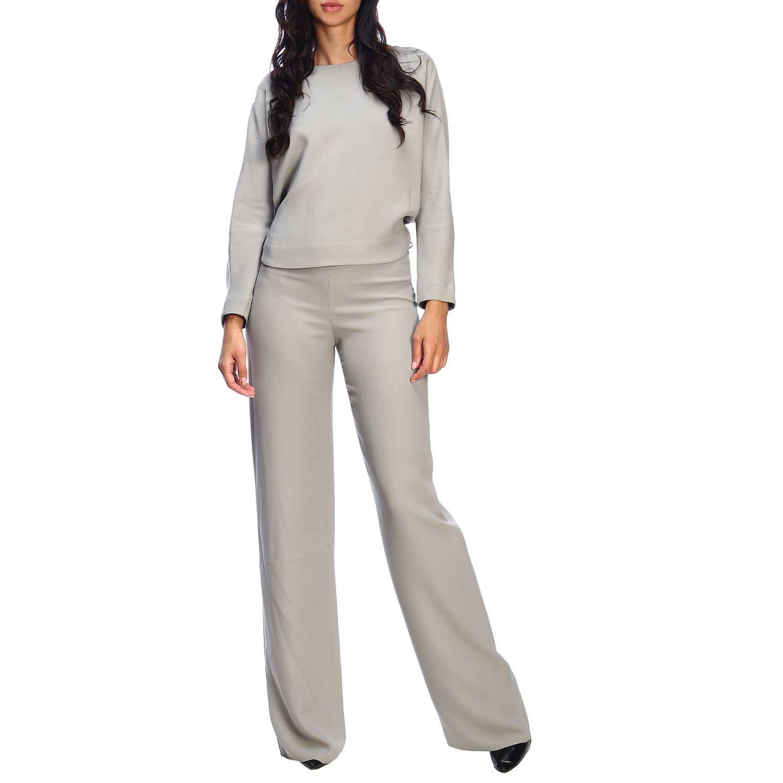 Giorgio Armani Classic trousers in wide crepe grey 2