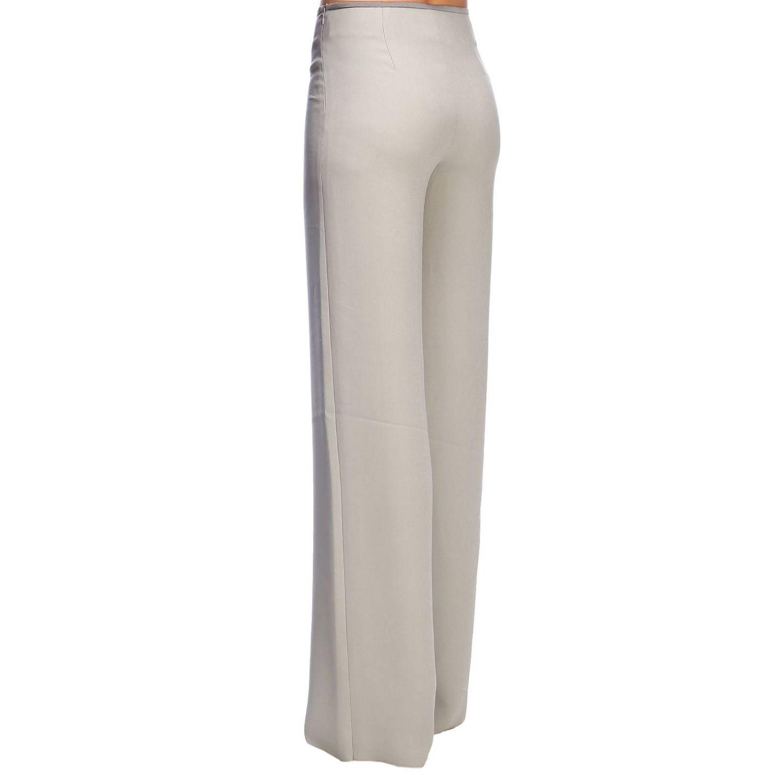 Giorgio Armani Classic trousers in wide crepe grey 3